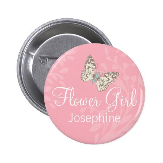 Pino/botão do casamento do rosa do florista das bóton redondo 5.08cm