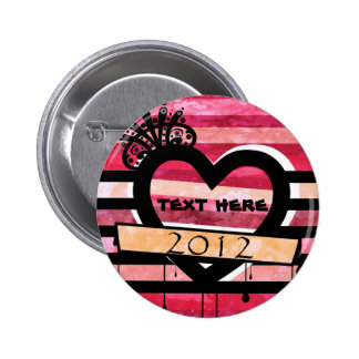 pino do coração 2012 do vintage botons