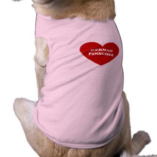 Pinscher alemão camiseta para cães