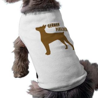 Pinscher alemão camisa sem mangas para cachorro