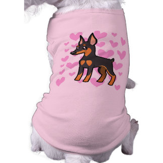 Pinscher diminuto/amor de Manchester Terrier Camisa Sem Mangas Para Cachorro