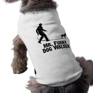 Pinscher diminuto camiseta para cães