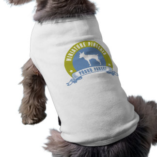 Pinscher diminuto camisas para cães