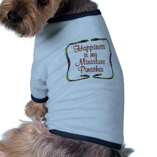 Pinscher diminuto camisa para cães