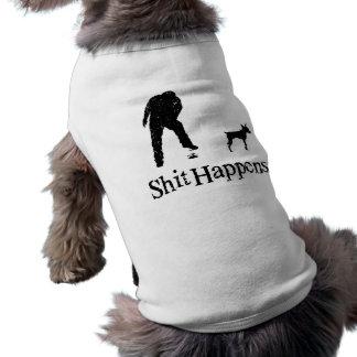 Pinscher diminuto camisa sem mangas para cachorro