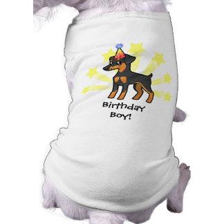 Pinscher diminuto do aniversário/Manchester Terrie Roupa Para Pet