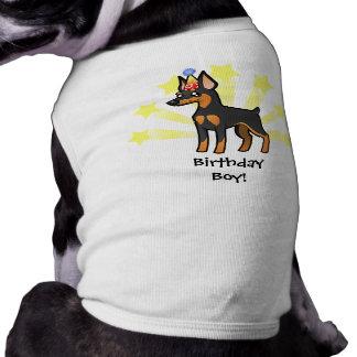 Pinscher diminuto do aniversário/Manchester Terrie Camisa Sem Mangas Para Cachorro