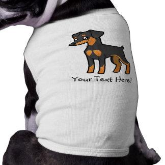 Pinscher diminuto dos desenhos animados/Manchester Camisa Sem Mangas Para Cachorro