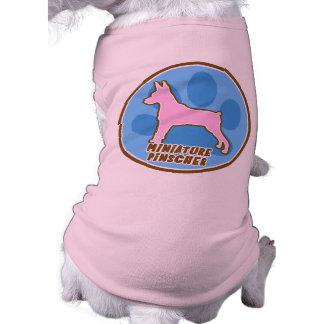 Pinscher diminuto na moda camisa sem mangas para cachorro