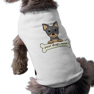 Pinscher diminuto personalizado camisetas para cães