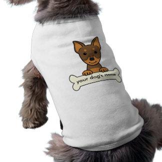 Pinscher diminuto personalizado camisa sem mangas para cachorro