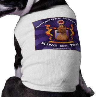Pinscher diminuto, rei dos brinquedos camisa sem mangas para cachorro
