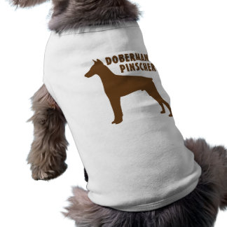 Pinscher do Doberman Camisa Sem Mangas Para Cachorro