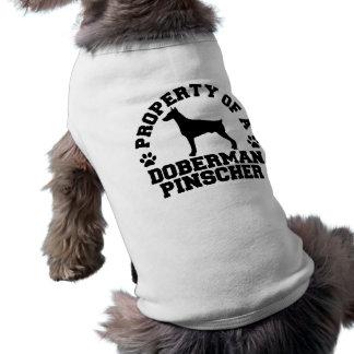 Pinscher do Doberman da propriedade Camisa Para Cães