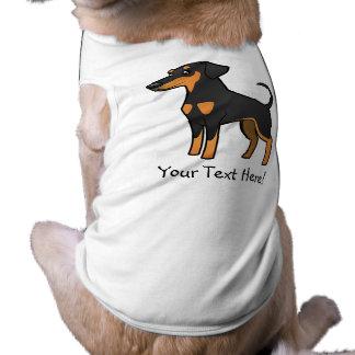 Pinscher do Doberman dos desenhos animados Camisa Sem Mangas Para Cachorro