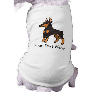 Pinscher do Doberman dos desenhos animados (orelha Camisas Para Cães