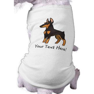 Pinscher do Doberman dos desenhos animados (orelha Camisa Sem Mangas Para Cachorro