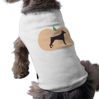 Pinscher feliz do Doberman do Dia das Bruxas Camisa Sem Mangas Para Cachorro