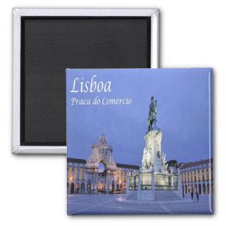 Pinta - Portugal - Lisboa - quadrado do comércio Ímã Quadrado