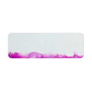 pinte a etiqueta do artesanato do endereço das etiqueta endereço de retorno