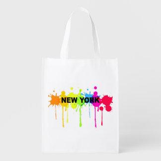 Pinte o saco de New York do spatter Sacola Reusável