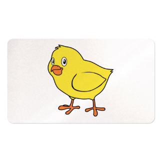 Pintinho amarelo feliz bonito cartão de visita