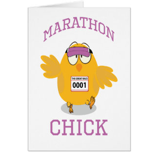 Pintinho da maratona cartão de nota