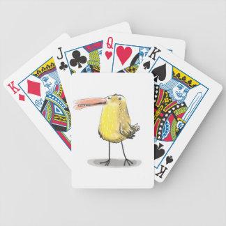 pintinho feio amarelo do anticute baralhos para pôquer