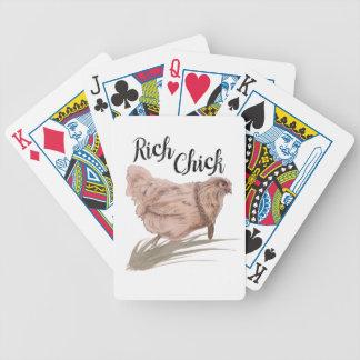 Pintinho rico baralhos de cartas