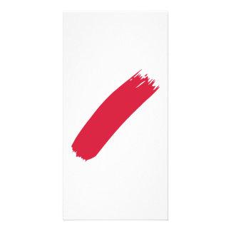 Pintor da cor vermelha cartão com foto