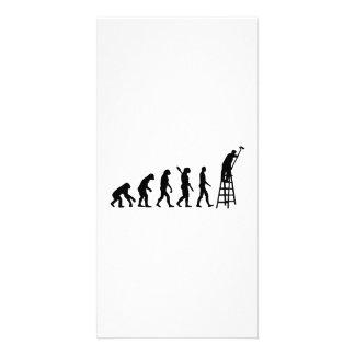 Pintor da evolução cartão com foto