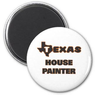 Pintor de casa de Texas Ímã Redondo 5.08cm