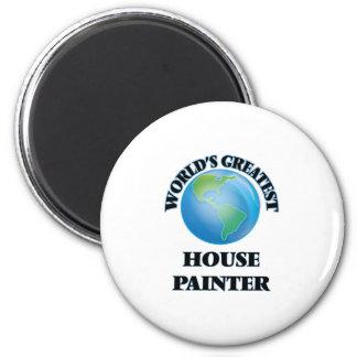 Pintor de casa do mundo o grande imã de refrigerador