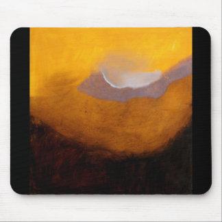 Pintura a óleo abstrata da paisagem mouse pad