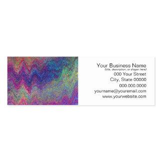 Pintura abstrata colorida cartão de visita skinny