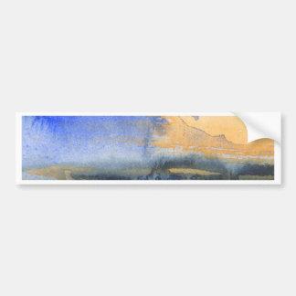 Pintura abstrata da aguarela adesivo para carro
