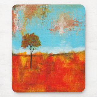 Pintura abstrata da arte da árvore da paisagem do mouse pad
