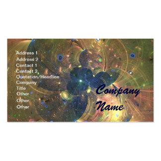 Pintura abstrata do espaço, cartão de visita