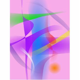 Pintura abstrata dos formulários livres da lavanda fotoescultura