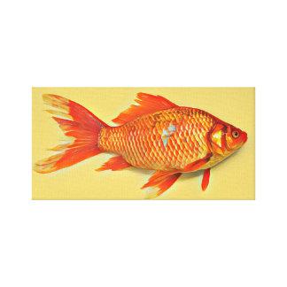Pintura alaranjada do peixe dourado
