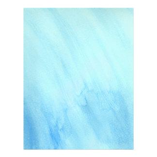 Pintura azul da aguarela da água da chuva da chuva flyer 21.59 x 27.94cm