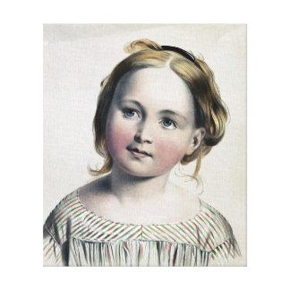 Pintura bonito do vintage da menina