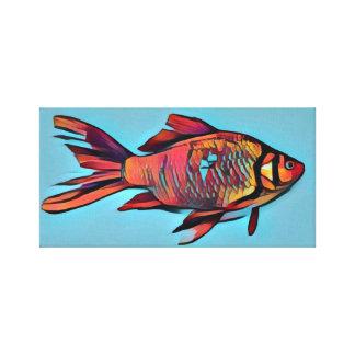 Pintura brilhante do peixe dourado