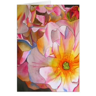 Pintura cor-de-rosa Pastel da arte da aguarela de Cartão