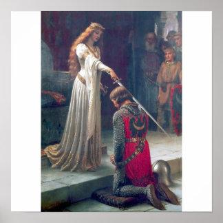 pintura da antiguidade do castelo da espada do cav poster