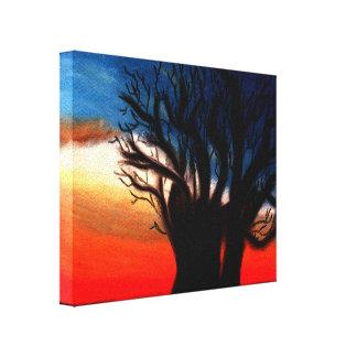Pintura da árvore do Baobab Impressão Em Tela