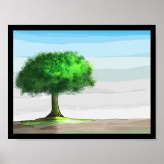 Pintura da árvore - Photoshop Impressão