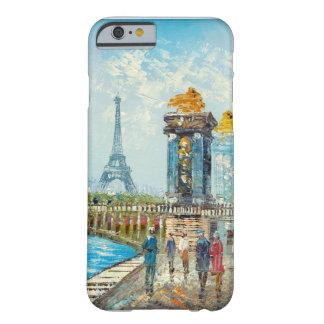 Pintura da cena da torre Eiffel de Paris Capa Barely There Para iPhone 6