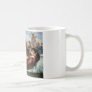 Pintura da religião da cristandade dos anjos caneca de café