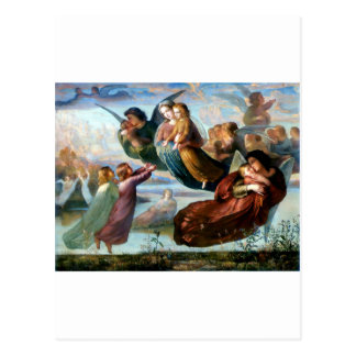 Pintura da religião da cristandade dos anjos cartão postal